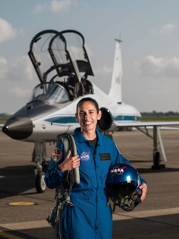 2017 NASA Astronaut Candidate - Jasmin Moghbeli. Photo Date: June 6, 2017. Location: Ellington Field - Hangar 276, Tarmac. Photographer: Robert Markowitz