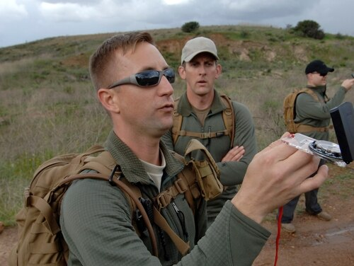 Military members practice navigating in a GPS-denied environment. The Pentagon is concerned a move by the FCC may harm GPS functionality. (U.S. Navy photo by Mass Communication Specialist 2nd Class Eli J. Medellin/Released)