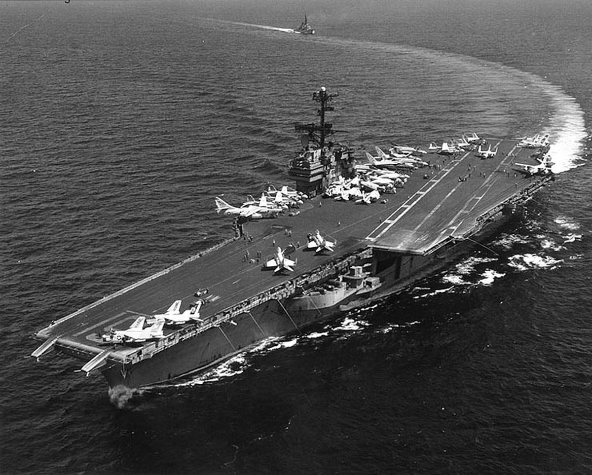 USS Ranger leaving Puget Sound for Texas scrap yard