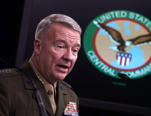 """Gen. Kenneth """"Frank"""" McKenzie told Congress that U.S. Central Command headquarters is """"working very hard"""" to attribute the Taji attack. (Alex Wong/Getty Images)"""