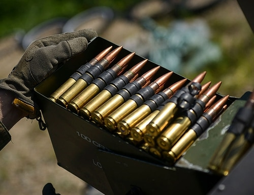 Your next belt of .50 caliber ammunition could weigh 10 to 20 pounds less than it does now, if industry representatives are able to meet the needs of a recent Marine Corps request. (Cpl. Aaron S. Patterson/Marine Corps)