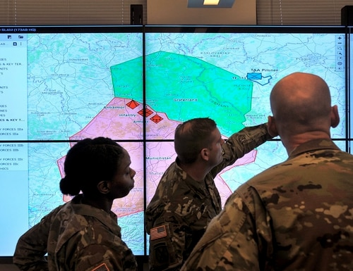 The Army could lose nearly $46 million in funding that would slow the fielding of the Command Post Computing Environment. (Dan Lafontaine/Army)