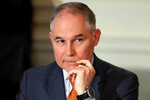 House Oversight Chairman Trey Gowdy issued a letter to Environmental Protection Agency chief Scott Pruitt (pictured) seeking an accounting of all flights taken by the EPA administrator over the last year and whether the ticket was coach, business or first class. (Carolyn Kaster/AP)