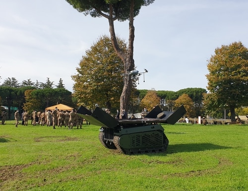 Milrem has demonstrated its autonomous THeMIS ground vehicle to the Italian Army. (Business Wire via AP)
