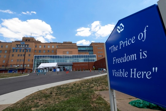This week, a former nursing assistant from the Louis A. Johnson VA Medical Center in Clarksburg, W.Va., (shown here in July 2020) was sentenced to life in prison for murdering seven patients with insulin injections in 2017 and 2018. (Gene J. Puskar/AP)