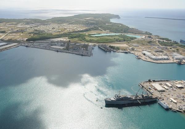 Apra Harbor, Guam, is seen April 17, 2013. (MC1 Jeffrey Jay Price/Navy)