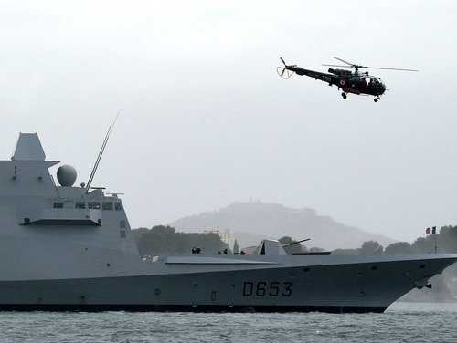 The French FREMM vessel is expected to be a competitor in the U.S. Navy's frigate competition. (Broris Horvat/AFP)