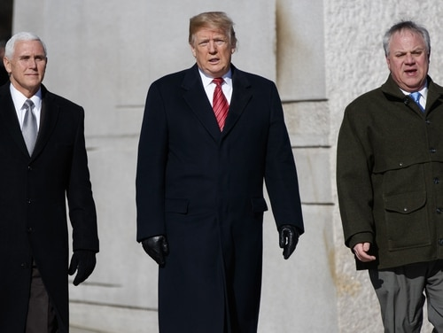 Acting Interior Secretary David Bernhardt (pictured right) will be nominated to officially take over as head of the agency, President Donald Trump announced. (Evan Vucci/AP)