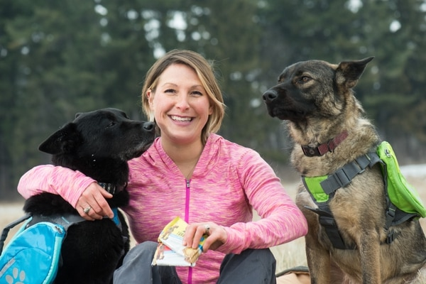Former Air Force C-130 pilot Kristina Guerrero created to TurboPUP canine meal bars for on-the-go adventures with her dogs. (Courtesy PetSmart)