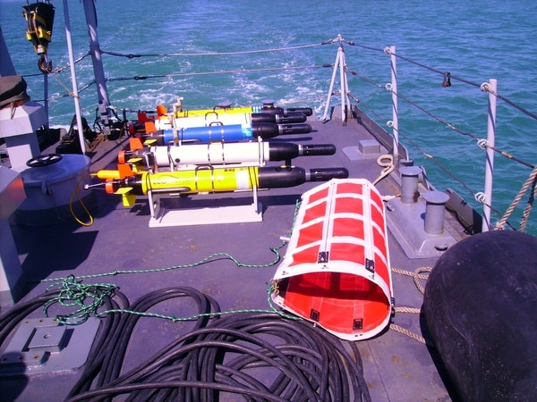 The Iver is a commercially developed autonomous underwater vehicle. (L3 OceanServer)