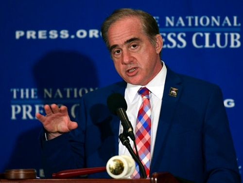 Veterans Affairs Secretary David Shulkin speaks at the National Press Club in Washington, Monday, Nov. 6, 2017. (Susan Walsh/AP)