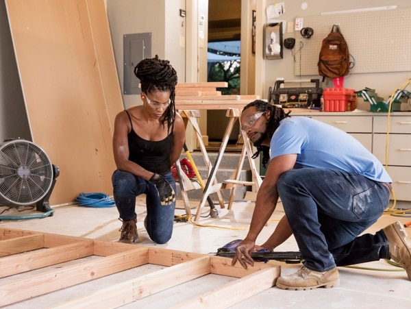 Through their Recon Realty business, Andy and Ashley Williams train other veterans in the real estate industry, allowing them to shadow the couple on various projects from start to finish. (Photo provided by HGTV)