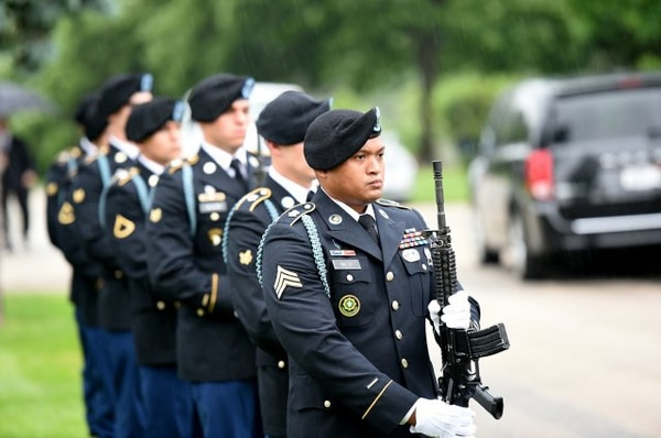 Soldiers assigned to the same unit as Mampre volunteered to provide an honor guard at his funeral service.