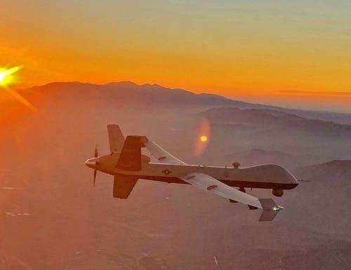 An MQ-9 Reaper drone flies over California. (Courtesy of Chalk 2)
