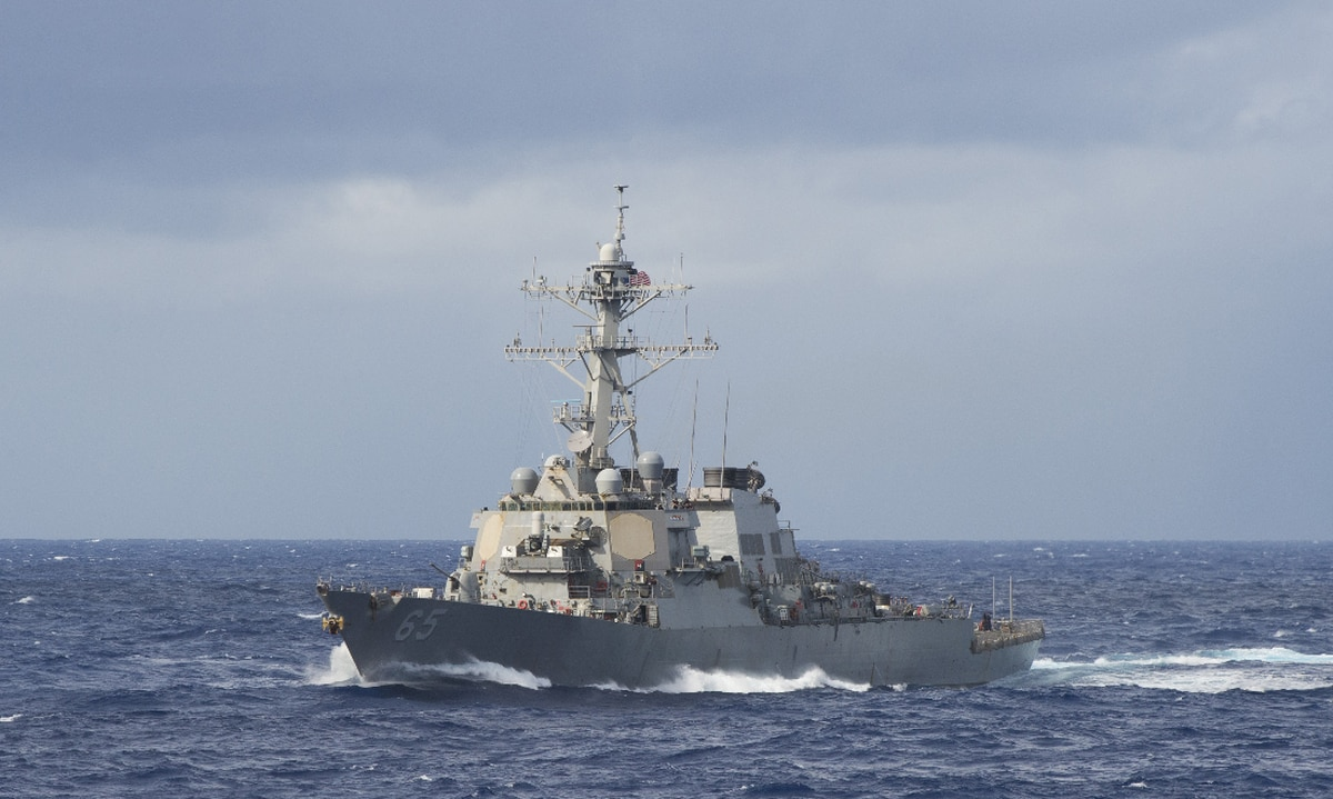 us navy destroyers make a rare passage through the taiwan strait