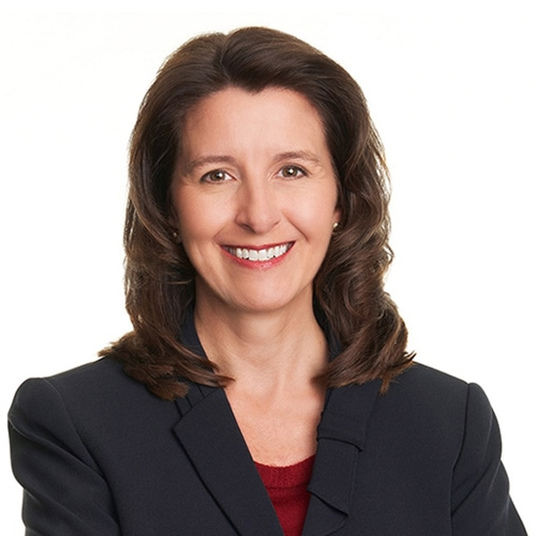 Northrop Grumman's CEO, Kathy Warden, predicts new firms will adapt commercial AI and machine-learning applications for military surveillance as well as command and control. (Northrop Grumman)