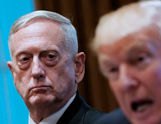 Former Defense Secretary Jim Mattis and President Donald Trump are shown on the cover of retired Cmdr. Guy Snodgrass's memoir of his time as Mattis's speechwriter. The book goes on sale Oct. 29. (Penguin Random House).