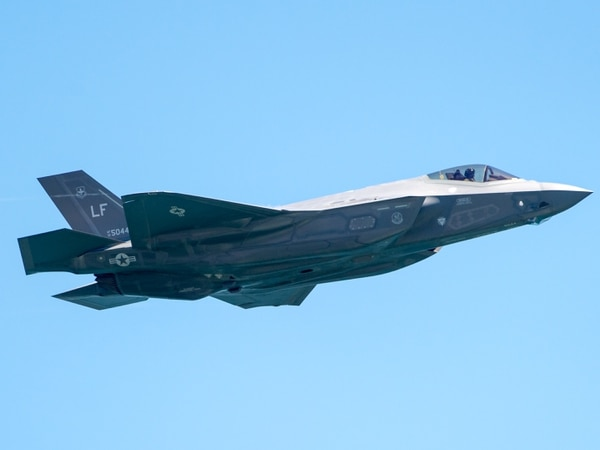 An F35 flys over 16th Street in Ocean City during the Ocean City Air Show on Saturday, June 18.