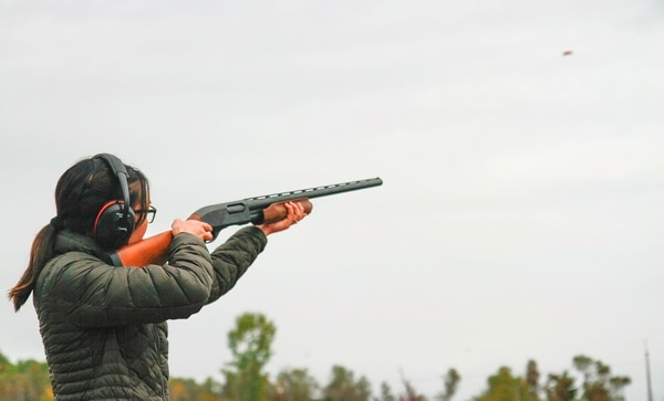 Tanyatorn Ghanjanasak is shown during the skeet shoot event at the first battalion-level Dragon Spouse Day Oct. 7, 2015, at Fort Drum, N.Y. Ghanjanasak has since been sentenced to federal prison for sending threatening messages to her former husband, a soldier she met at Fort Drum. (Staff Sgt. Mark A. Moore II/Army)