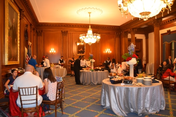 Banquet luncheon for invited members of the Wounded Warrior Project at the U.S. Capitol on July 4 2019. (Kristine Froeba)
