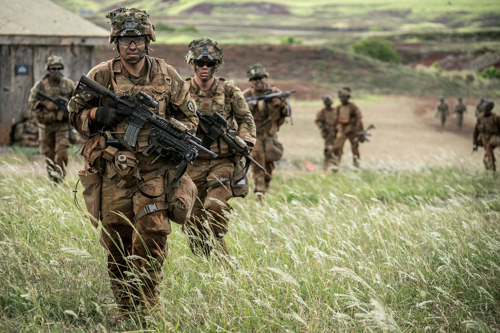 U.S. soldiers assigned to 1st Battalion, 27th Infantry Regiment