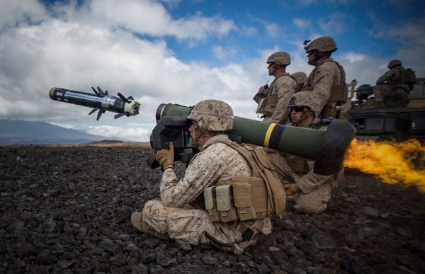 A Marine attached to Weapons Company, 1st Battalion, 3rd Marine Regiment