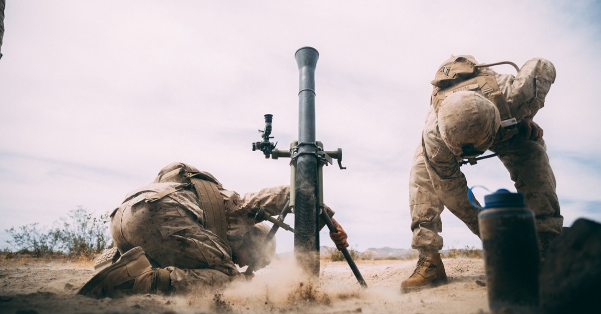 Marines 'hang' flash-bang mortar rounds for first time