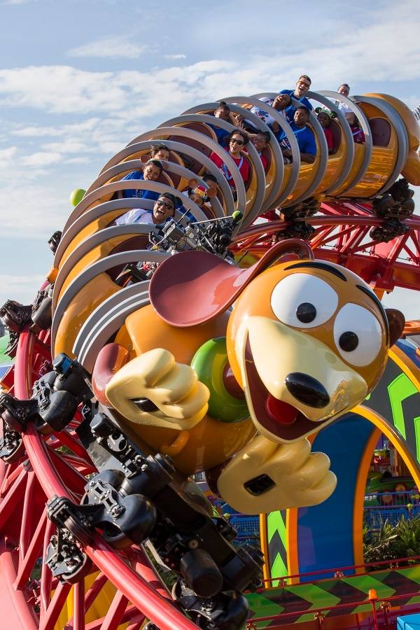 The VIP military families were among the first to experience the Slinky Dog Dash coaster, one of two all-new attractions at Toy Story Land. The family-friendly coaster zips riders around on the back of the popular pooch made famous as a 1950s iconic toy. (Disney)