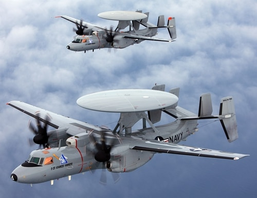 The aircraft will provide the Navy with training for the E-2D, which can be integrated with other U.S. trainers, the company said. (Courtesy of Rockwell Collins)