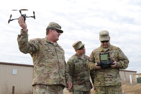 Train of thought: The Army is already training for a future where military quadcopters are ubiquitous. (Spc. Elizabeth Payne, 19th Public Affairs Detachment)