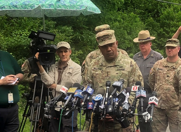 U.S. Military Academy superintendent Lt. Gen. Darryl Williams speaks during a news conference, Thursday, June 6, 2019, in Cornwall, N.Y. (Ted Shaffrey/AP)