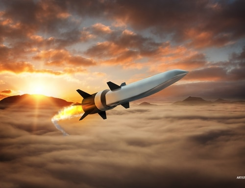 A Raytheon rendering of the Hypersonic Air-Breathing Weapon Concept. (Raytheon)