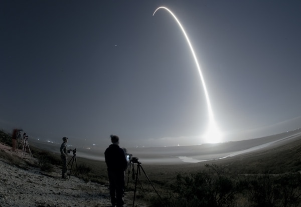 Team Vandenberg supported the successful launch of 10 Iridium satellites on a SpaceX Falcon 9 rocket from Space Launch Complex-4, Monday, Oct. 9, 2017, at 5:37 a.m. PDT Vandenberg Air Force Base, Calif. (Senior Airman Ian Dudley/Air Force)
