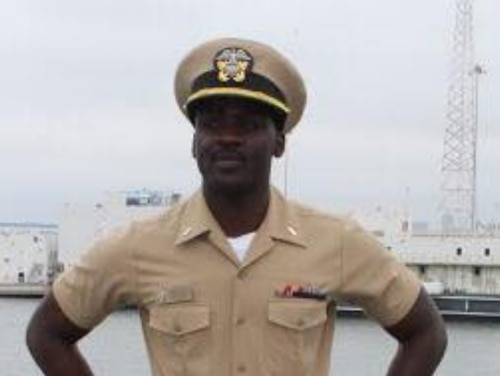 A woman posted a video to Facebook Tuesday saying the cruiser Lake Erie sailor missing at sea since Sunday is her son, Lt. j.g. Asante McCalla. Navy officials have not confirmed the missing sailor's identity. (Photo courtesy Alicia McCalla)