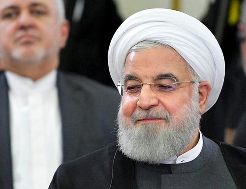 Iranian President Hassan Rouhani attends the Eurasian Economic Council in Yerevan, Armenia, Tuesday, Oct. 1, 2019. (Alexei Druzhinin, Sputnik, Kremlin Pool Photo via AP)