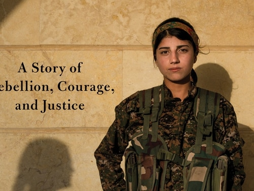 A member of the all-women Kurdish militia that battled ISIS graces the cover of Gayle Lemmon's newest book. (Penguin Random House)