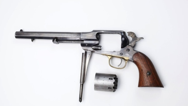 Exploiting Colt's misfortune, Remington ramped up production of its .44-caliber New Model Army, an arguably better (albeit more expensive) black-powder revolver than the Colt Army. Metallic cartridge sidearms soon replaced both. (National Firearms Museum)