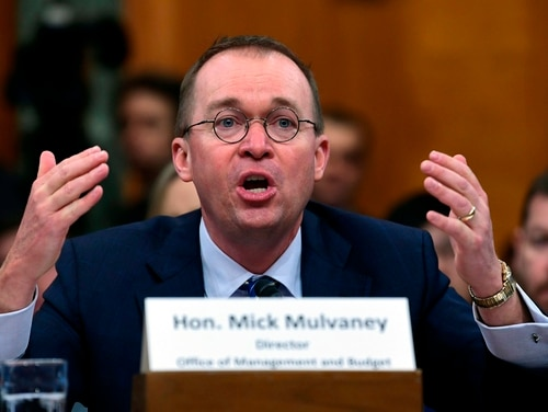 The Office of Management and Budget, headed by Mick Mulvaney (pictured), was unable to return information on a Freedom of Information Request filed by the Public Employees for Environmental Responsibility seeking public suggestions for government reorganization efforts. (Susan Walsh/AP)