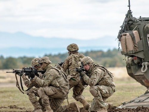 Soldiers from the 2nd Cavalry Regiment, National Guard and NATO train together in Europe. (Staff Sgt. Micah VanDyke/Army)