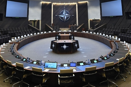 The NATO alliance is in the market for new cyber-defense platforms. (Emmanuel Dunand/AFP via Getty Images)