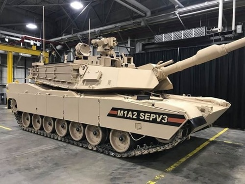 The Abrams M1A2 SEPv3 rolls off of production at the Joint Systems Manufacturing Center in Lima, Ohio. (Army)