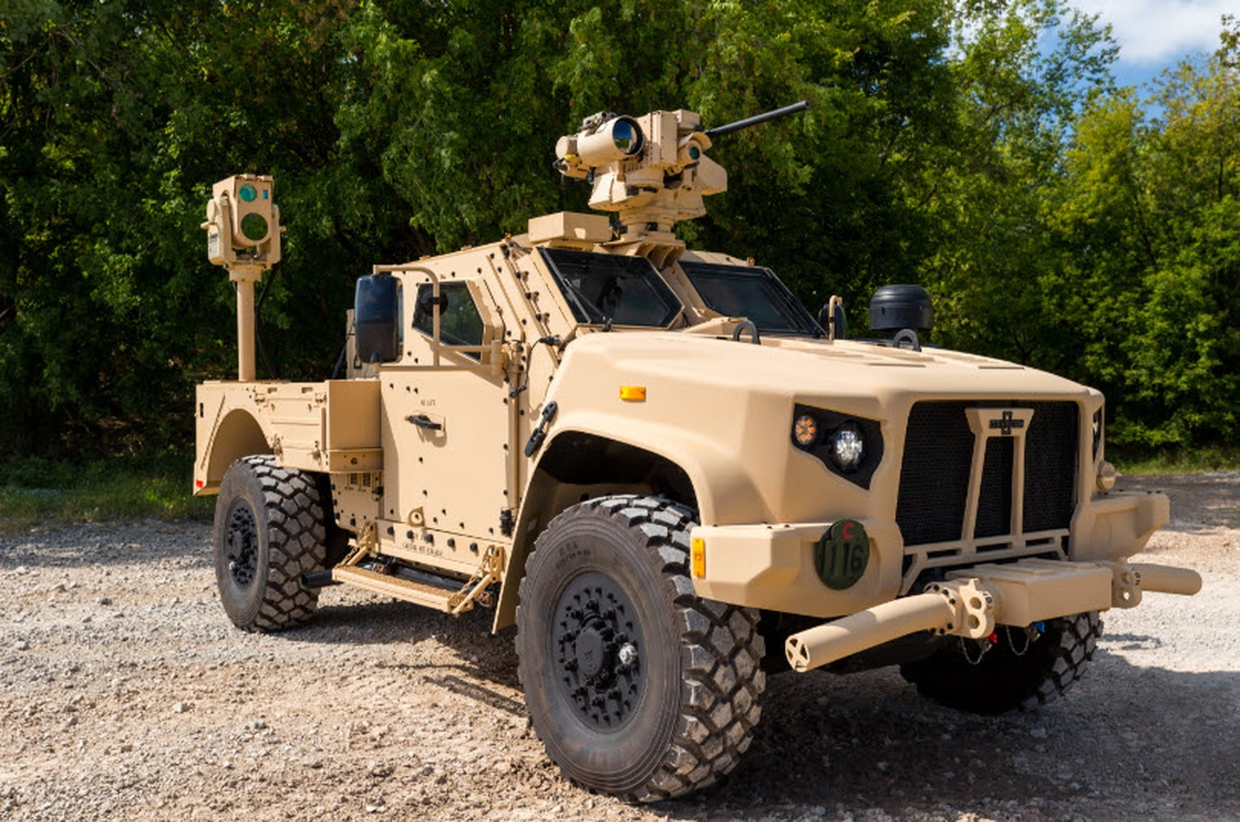 The Compact Laser Weapon System is a medium-range, low-power device that soldiers and Marines can use to counter drones and other threats. (Boeing)