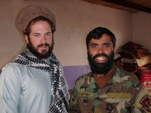 Then Master Sgt. Matthew Williams is shown in local garb alongside an Afghan National Army Commando. (Army)
