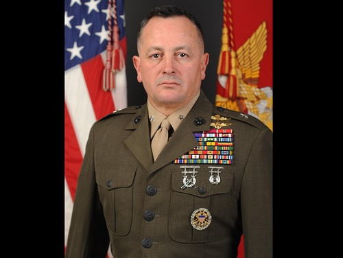Marine Brig. Gen. Rick A. Uribe was cited in a July 2018 Department of Defense Inspector General's report for taking gifts from subordinates and using an aide for personal errands. (Marine Corps)