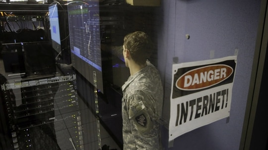 The Army's rapid cyber acquisition hub is seeking to expand in the next year. (AP Photo/Mel Evans)
