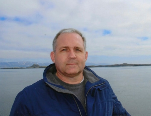 This undated photo provided by the Whelan family shows Paul Whelan in Iceland. Whelan, a U.S. Marine veteran arrested in Russia on espionage charges, was visiting Moscow over the holidays to attend a wedding when he suddenly disappeared, his brother said Jan. 1. (Whelan Family via AP)