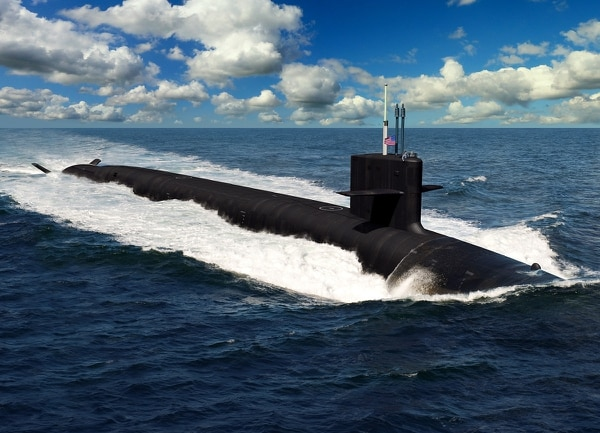A rendering of the future ballistic missile submarine Columbia, the first of a 12-ship class of SSBNs. (U.S. Navy)