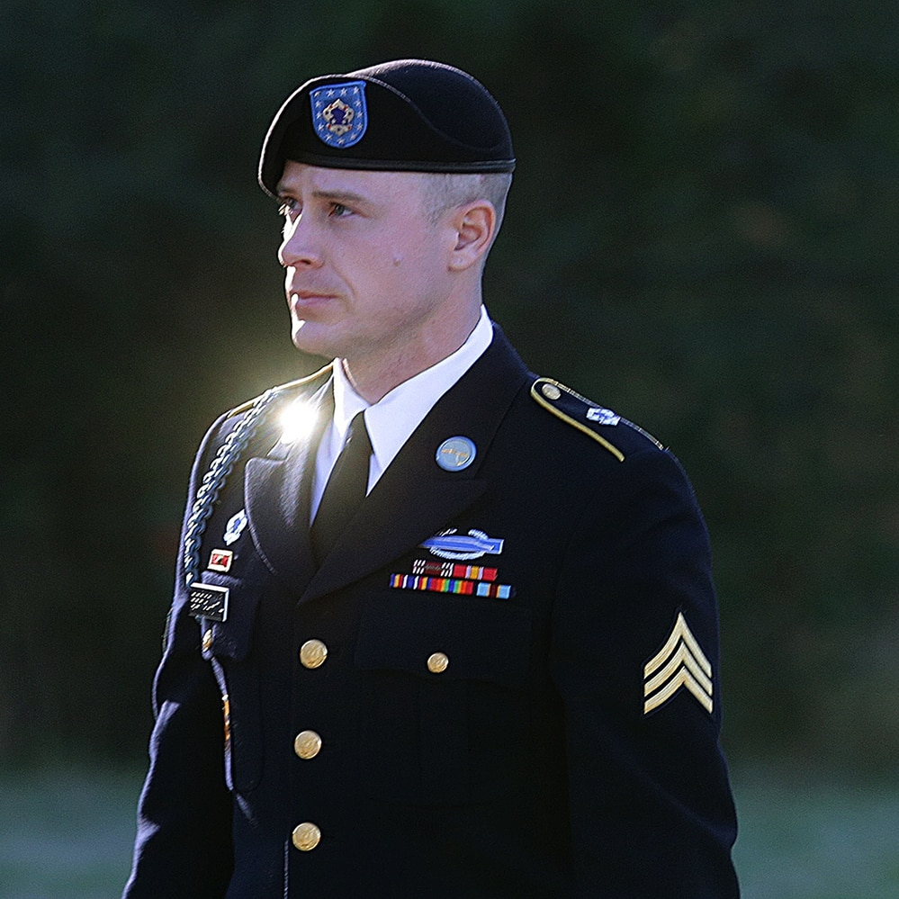 Army Sgt. Bowe Bergdahl arrives for a pretrial hearing at Fort Bragg, N.C., early last year. (Ted Richardson/AP)
