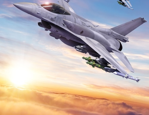 L3Harris won a development contract from Lockheed Martin and the U.S. Air Force to provide an electronic protection system for F-16s. (Lockheed Martin)
