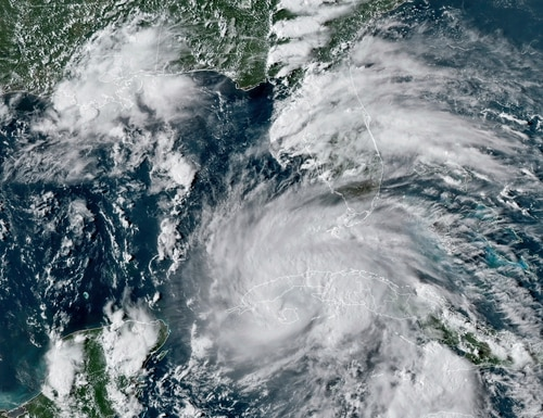 Hurricane Ida made landfall in the continental U.S. Aug 29, causing severe damage in parts of Louisiana, Mississippi, New York and New Jersey. (NOAA via AP)